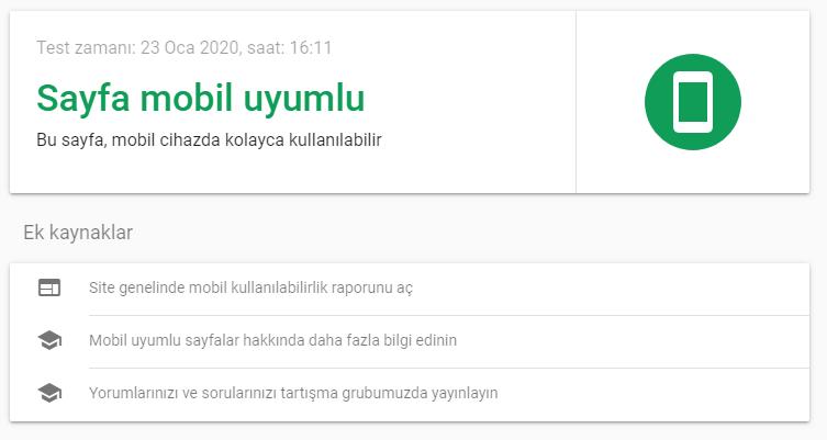 google mobil testi
