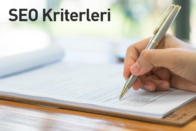 SEO Kriterleri
